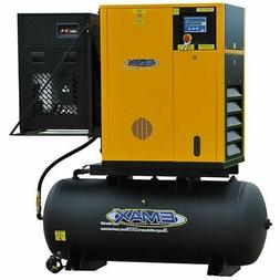 EMAX 10-HP 120-Gallon Rotary Screw Air Compressor Fully Pack