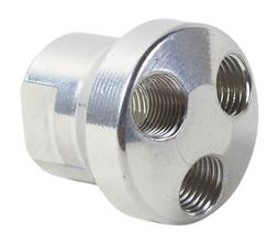 """Hitachi 115334 Aluminum Round 3-Way Manifold with 3/8"""" In an"""