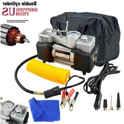 12V Heavy Duty Portable Air Compressor Car Tyre Auto Tire In