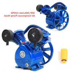 3HP 2 Piston V Style Twin Cylinder Air Compressor Pump Motor