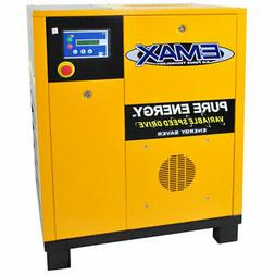 EMAX 7.5-HP Tankless Rotary Screw Air Compressor with Variab