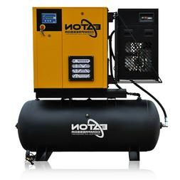 7.5HP Rotary Screw Air Compressor with Dryer Package 120 Gal