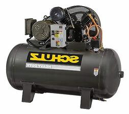 SCHULZ AIR COMPRESSOR - 5HP- SINGLE PHASE - 80 GALLONS TANK