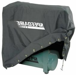 SPEEDAIRE Vinyl Backed Polyester Air Compressor Cover, Black
