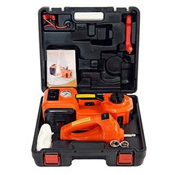 MarchInn 12V DC 5.0T Electric Hydraulic Floor Jack and Tire