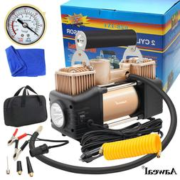Heavy Duty Electric Air Tire Pump Portable 12V Inflator Auto