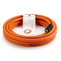 Hybrid Air-Hose 3/8 in. x 25 FT.1/4 in. MNPT Fittings,Air Co
