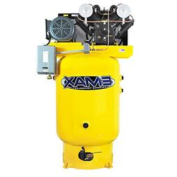 EMAX premium Industrial 10HP V-4 80 Gallon Vertical 3PH air