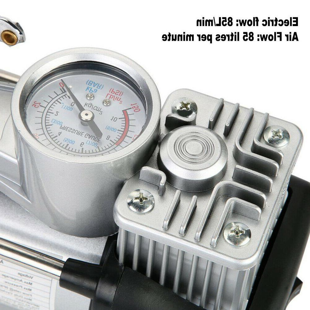 HEAVY Compressors Car Inflator Double