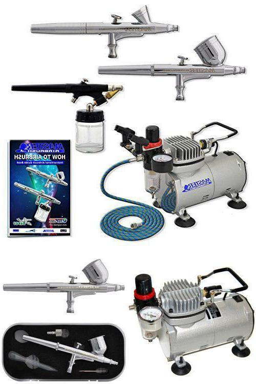 3 Airbrush Professional Master Airbrush Multi-Purpose Airbru
