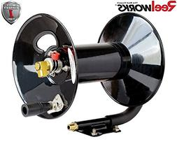 ReelWorks L201303A Hand Crank Air Compressor Hose Reel witho