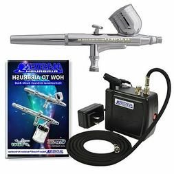 Master Airbrush Multi-Purpose Airbrushing System Kit with Po