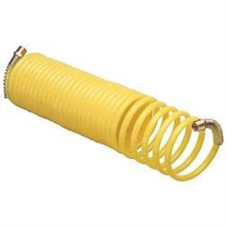 """25ft 1/4"""" Recoil Air Hose Re Coil Spring Ends Pneumatic Comp"""
