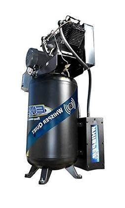 10 HP Quiet Air Compressor, 1 PH, 2-Stage, 80-Gallon, Vertic